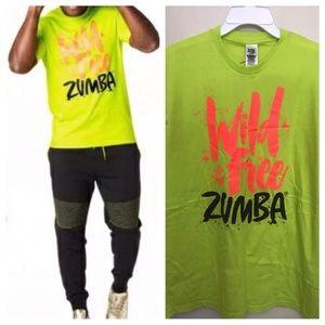 🚨SOLD NEW ZUMBA FITNESS T-SHIRT WILD AND FREE NEO